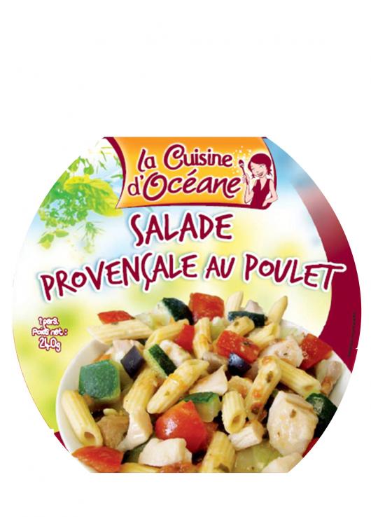 Salade de légumes et de pâtes au poulet