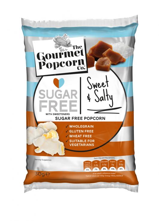Sucré et salé popcorn sans sucre avec édulcorants