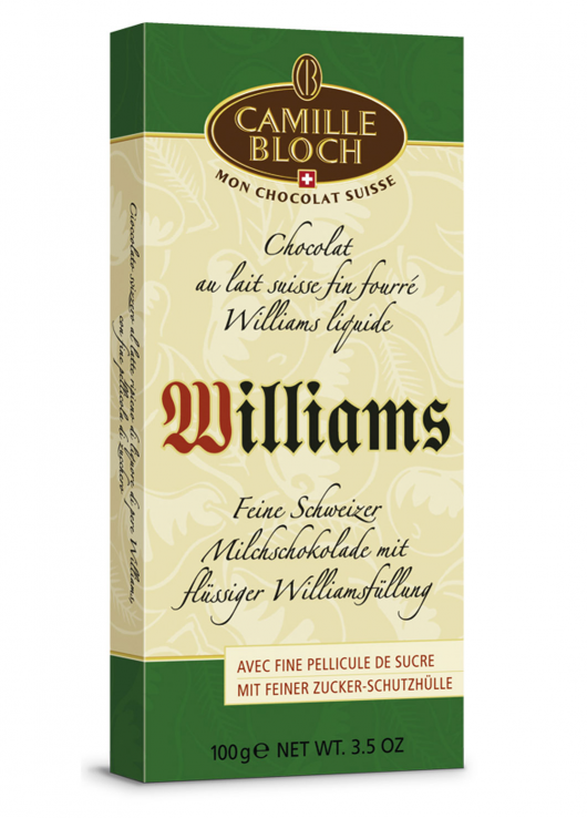 Chocolat au lait fourré Williams liquide
