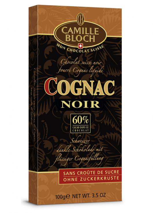 Chocolat noir fourré Cognac liquide