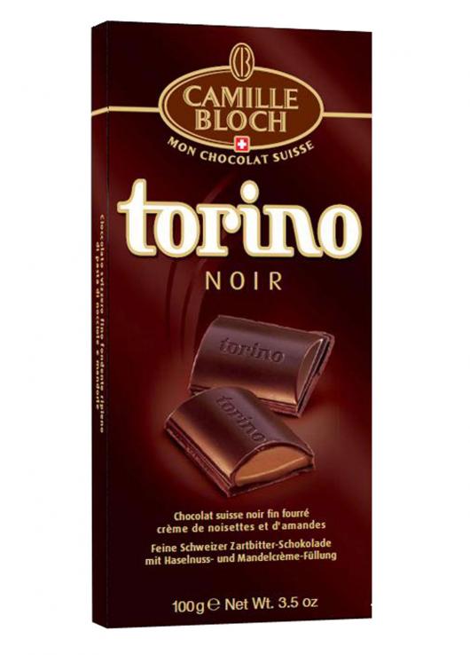 Chocolat noir fin fourré crème noisettes et amandes