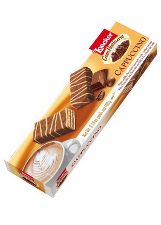 Fins biscuits chocolat lait à la crème capuccino
