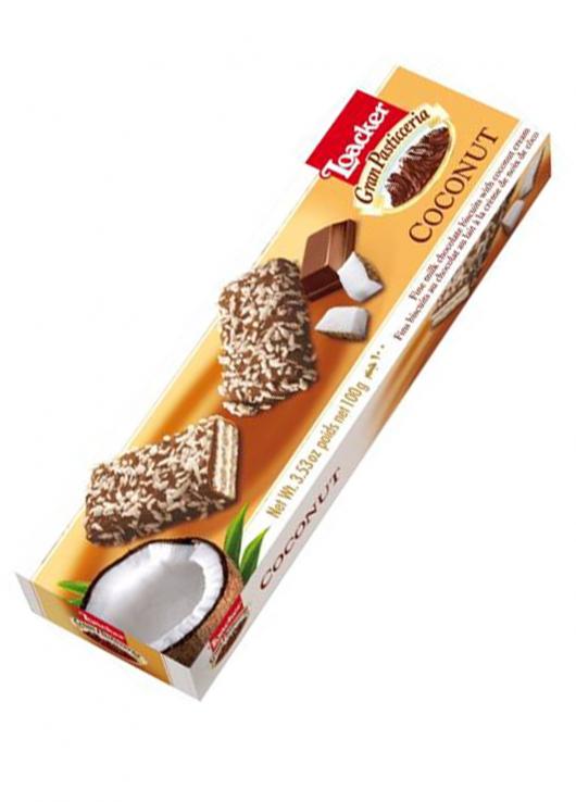 Fins biscuits chocolatés à la crème de noix de coco
