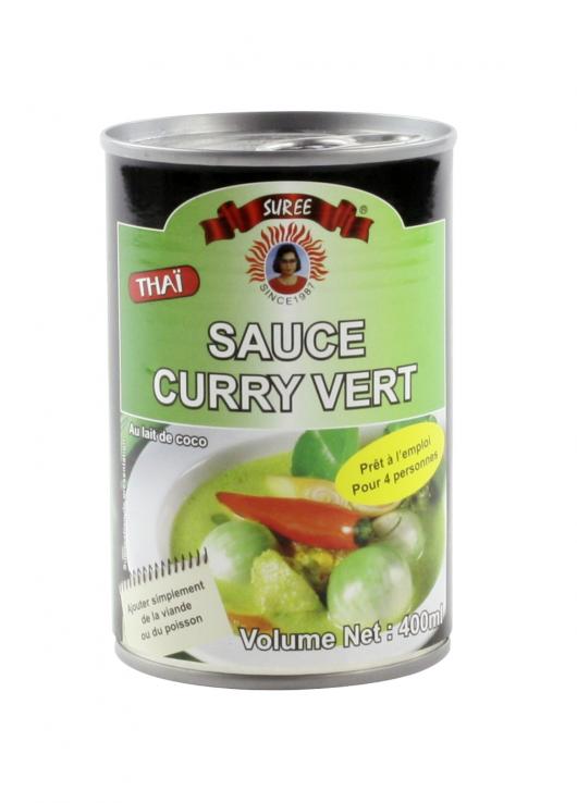 Sauce au curry vert et lait de coco