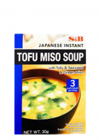Soupe miso instantanée japonaise au tofu