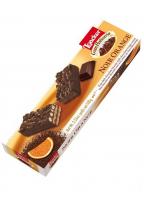 Fins biscuits chocolat noir à la crème choco-orange